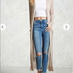 Long duster cardigan